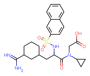 N-alpha-(2-naphthylsulfonyl)-3-amidino-l-phenylalanine piperazide-version-2 diagram