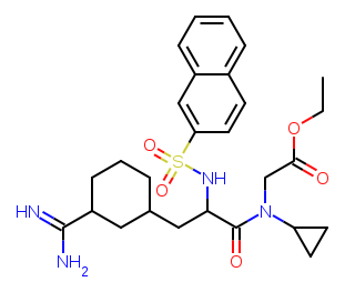 N-alpha-(2-naphthylsulfonyl)-3-amidino-l-phenylalanine piperazide-version-2et diagram